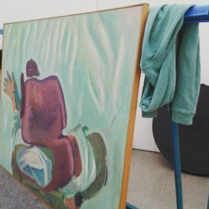 #mumok_wien #behindthescenes #abbau #Painting2Null #marialassnig #matchingcolors