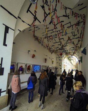 MiniMeshuggahhTonspurLaanndtttt!!! #CharlemagnePalestine #q21vienna #mqwien #seekingbeautyq21 #seekingbeauty #viennaartweek TONSPUR Kunstverein Wien