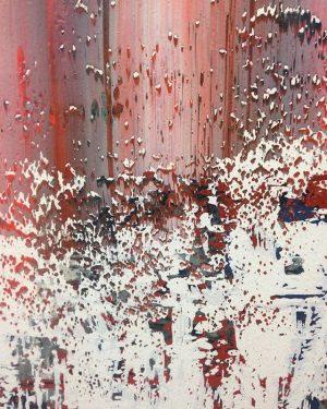 Speaking textures. #richter #art #contemporary #vienna #albertina #viennaartweek #sunday #painting #technique #red #white Albertina Museum