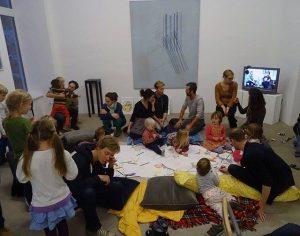 Heute Kinderprogramm im T|abor in der Ausstellung