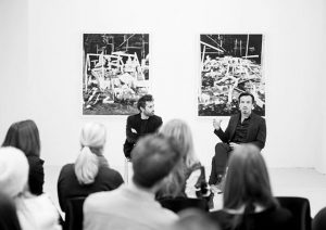 Thank you #lucalopinto for hosting the #artisttalk with #rodrigovalenzuela @galerie.kandlhofer #photography #video #viennaartweek2016 #ruins
