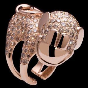 Champagne Diamond Monkey #advent #champagne #diamond #highjewelry #jewelry #jewellery #ring #silver #gold #fine #artisan #luxury #custom #art...