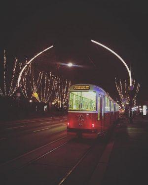 Night Tram! #wien #vienna #austria #tram #city #travel #travelgram #traveler #dope #travels Vienna, Austria