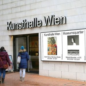 Walk on in! Our exhibitions at Kunsthalle Wien Museumsquartier & Karlsplatz are open all week except on...