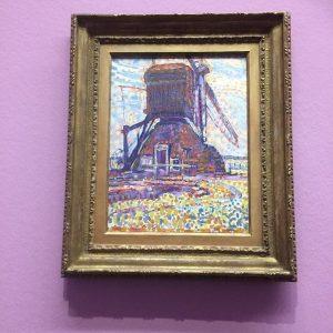 Port Mondrian (The Winkel Mill, Pontillist Version 1908) *e quando vc da de cara com um dos...