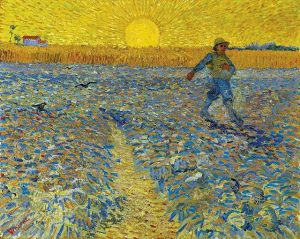 ... and of course Van Gogh's dynamic SOWER, who awaits you eagerly at #SeuratSignacVanGogh until 6pm today....