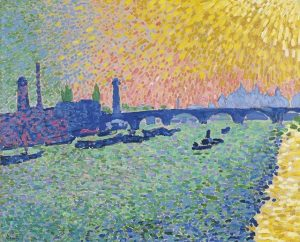 ..., visit Derain's wonderfully colourful WATERLOO BRIDGE . . . #SeuratSignacVanGogh #Albertina #AlbertinaMuseum André Derain | Waterloo...