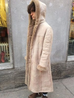 🌕🌕🌕 So much #love for this #great #light #beige #scandinavian #realvintage #shearling #coat 🌕🌕🌕 #leather #1060 #vienna...