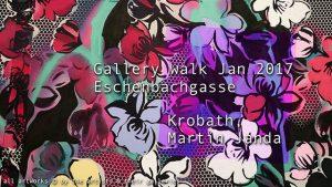 [NEW VID] Gallery walk Jan 2017 Eschenbachgasse Krobath Martin Janda #art #Vienna
