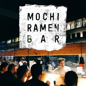 The Logo for the Mochi Ramen Bar was handmade and curved from linoleum. #bureauf #branding #welovemochiramen Mochi...