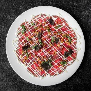 Gebeiztes Rindercarpaccio! #dinnergoals #sopretty #mottoamflussrestaurant #weloveit #sodelish #beef #trüffel #traum #carpaccio