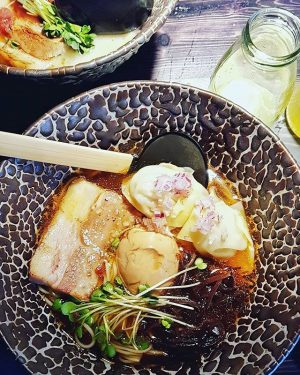 Bowl of goodness 🍲 I loved the rich broth of the tonkotsu ramen and enjoyed my surprisingly...