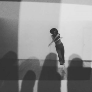 Shadows of my fingers on #trishabrown dancing, photographed by #babettemangolte Kunsthalle Wien
