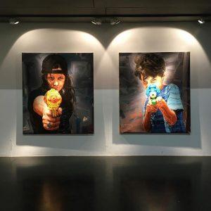 #fabiobaroli #exhibition #janarnolgallery #curated #pedrohenriquedemelo #freiraum #q21 #mq #vienna #flyer #artshow #painting #brasil ...