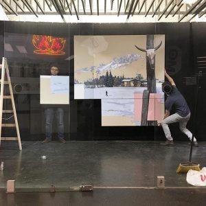 Hanging Fabio Barolis @fabiobaroli exhibition