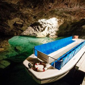 A boat trip to Europe's biggest underground lake. The tour