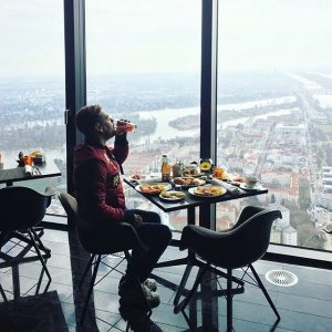 Petit déjeuner, grande vue 👌🏻 Vienna, Austria