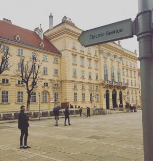Just going to rock down to... #electricavenue #eddygrant #travel #vienna #snellgroverbury MQ – MuseumsQuartier Wien
