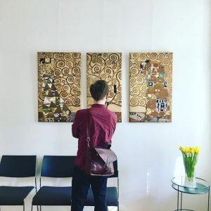 Klimt Villa opening 🥂 #letsgosomewhere #gustavklimt #trip #painting #art Klimt Villa WIEN
