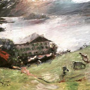 Lovis Corinth // landscape of Walchensee// 1923 // Leopold museum // oil painting #loviscorinth #walchensee #leopoldmuseum #oilpainting...