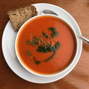 Tomato soup 🍅 📍 Motto am Fluss, 1010. Motto am Fluss