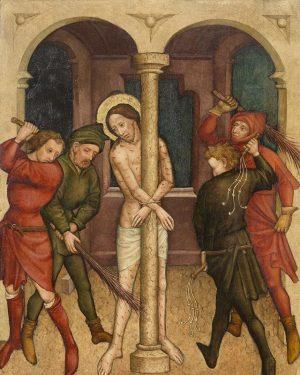 Geißelung Christi, um 1430/40 • Die Tafel dürfte ursprünglich zur Ausstattung des Pressburger Doms St. Martin gehört...