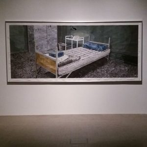 By #Marcelodenbach -Heimat3- ink onpaper 150x350 -2016 photo #simonvogel Curated by #vanessajoanmueller #cologne courtesy of galerie Gisela...