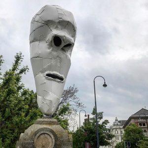 Giant art nose thing, #vienna #wien #kunst #bignose Stadtpark, Vienna