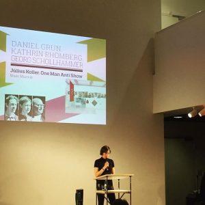 Wir sind irre stolz: Kuratorinnentrio, Daniel Grún, Kathrin Rhomberg und Georg Schöllhammer, gewinnt #Kuratorenpreis2016 des @art.kunstmagazin. Journalistin...