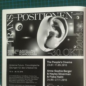 Latest ad for @werkleitz Festival Trans-Positionen w/ @konradrenner published in #springerin – Hefte ...
