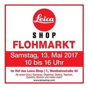 Hey Photo-Addicts😉! Soon the Leica Shop fleamarket will take place in the yard in front of WestLicht....