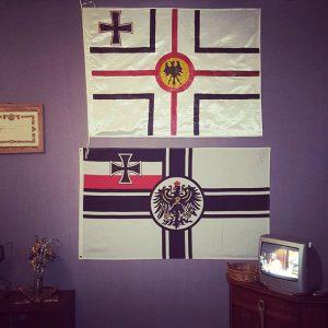Flags of #deutschkamerun in a work by #jeanpierrebekolo . #cunundrumofimagination at #wienerfestwochen curated by #paulinedoutreluingne and #bonaventuresohbejengndikung...