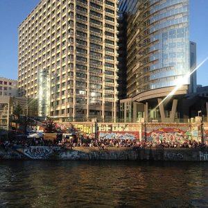 when i am all fuck wow, vienna 💘 #thiscityismine #cities #urban #architecture #summer #donaukanaltreiben #water #river #festival...