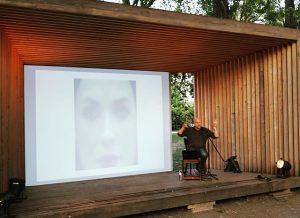 #WinonaRyder as seen by a #facial #recognition #software - @trevorpaglen @tba21 #augarten #lecture #ephemeropteræ Thyssen-Bornemisza Art Contemporary