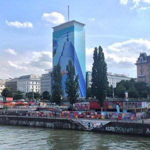 🌈#donaukanal #wien #vienna #ringturm Donaukanal