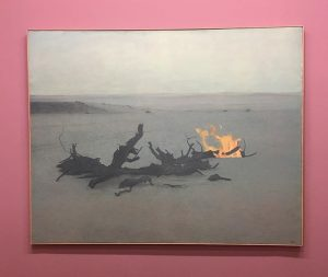 Isn't this lovely? #beachfire painting @conan8885 saw this and reminded me of you.#eduardangeli at the Albertina Museum,...