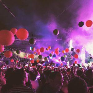Geniales Konzert #coldplay #aheadfullofdreamstour2017 #concert #summer2017 #balloons Ernst-Happel-Stadion