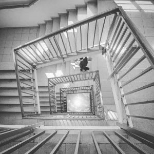 Stairway to Heaven #🌁 // #x4wien #stairwaytoheaven #stairs #stairway #heaven #upsidedown #magdashotel #vienna ...