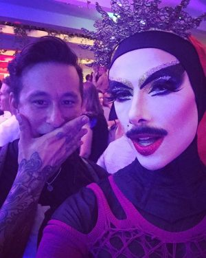 Hanging with @marcomarcounderwear at #LifeBallPreParty with @dollarbabyparty ! Yas! Le Méridien Vienna