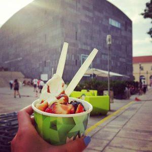 Сомое вкусное мороженко😊 Mumok, Museum of Modern Art, in Vienna.