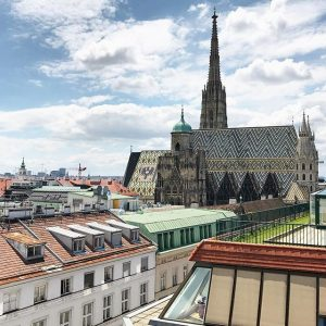 One of the nicest places in Vienna to have a nice drink with a spectacular view #dachterrasse...