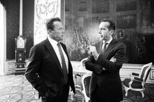 #Bundeskanzler Christian #Kern trifft Arnold #Schwarzenegger #austria #instapolitics #bw @schwarzenegger #arnoldschwarzenegger