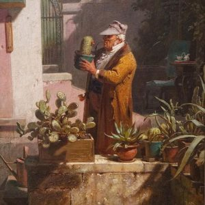 'Cactus Friend' by Carl Spitzweg. So succulents were already cool back in the 19th century 😜🌵😍 Go...