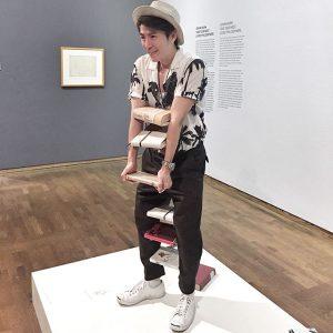 I'm a living sculpture!!! Leopold Museum