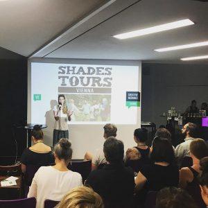 Perrine Schober in the house #perrineschober #survival #q21 #raumd #mq #creativemornings #creativemorningsvienna #cmvie #weloveearly #shadestours