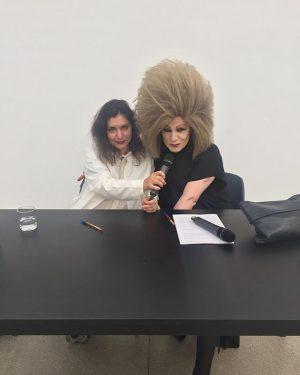 #RosaBarba and #Arakis preparing for tonights #ArtistTalk. #SecessionFriends Vienna Secession