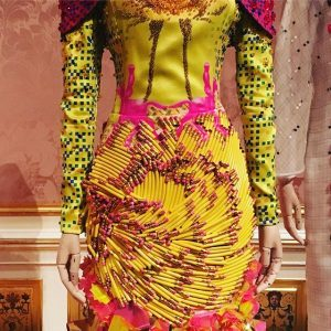 Yes, this dress is made of pencils Winter Palace of Prince Eugene