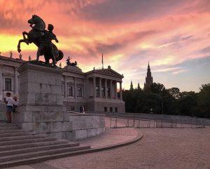 #sunset in #vienna Austrian Parliament Building
