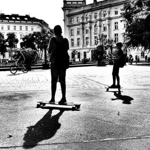 Today the skateboard wheels are almost melting under the burning sun with 38 degree Celsius (100 degree...