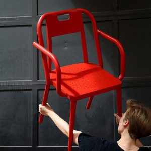 "For her exhibition at Kunsthalle Wien #Karlsplatz the Dutch designer #InekeHans has designed the ""Kunsthalle Wien Chair""..."